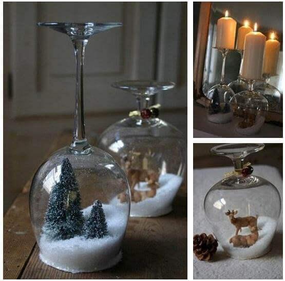 праздничные композиции в бокалах