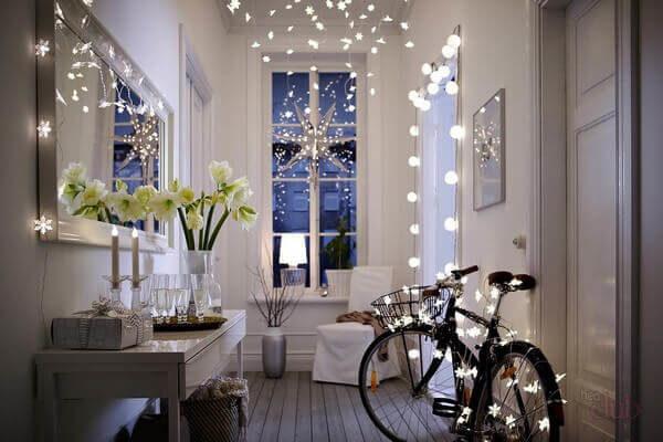 праздничная подсветка комнаты