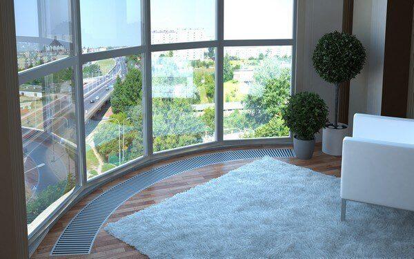 отопление балкона с панорамными окнами