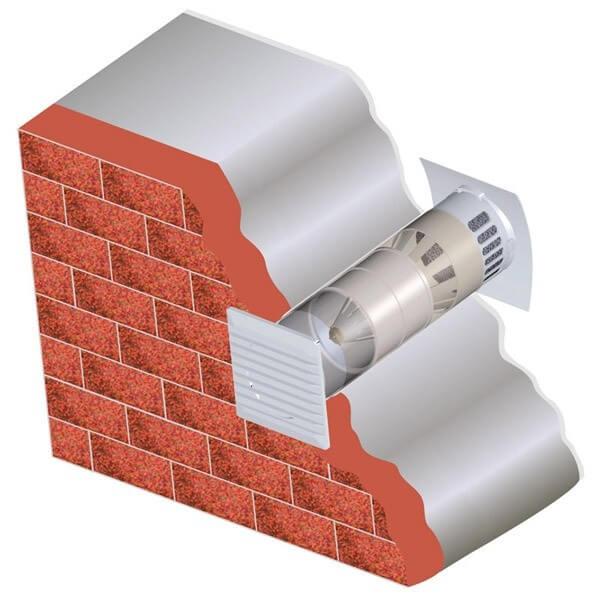 стеновой приточный клапан