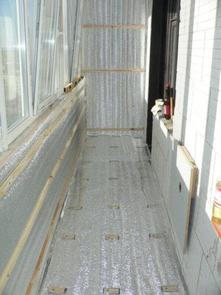 пароизоляция балкона