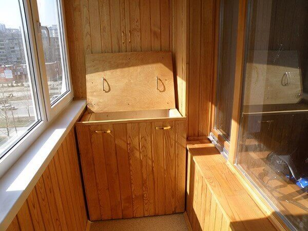 Ящик для хранения картошки на балконе