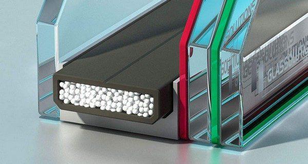 Алюминиевая рамка с влагопоглотителем