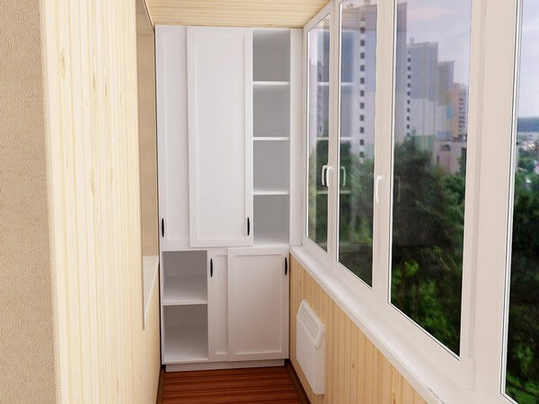 шкаф во всю высоту на балконе