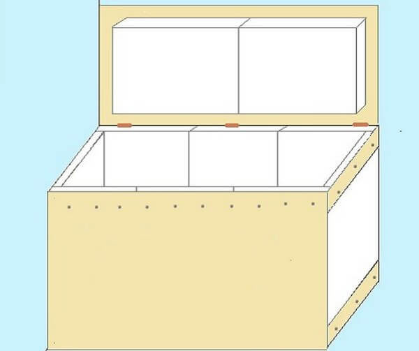 Ящик для хранения продуктов на балконе зимой