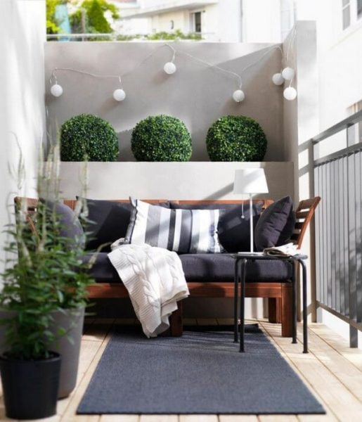 балкон в современном стиле
