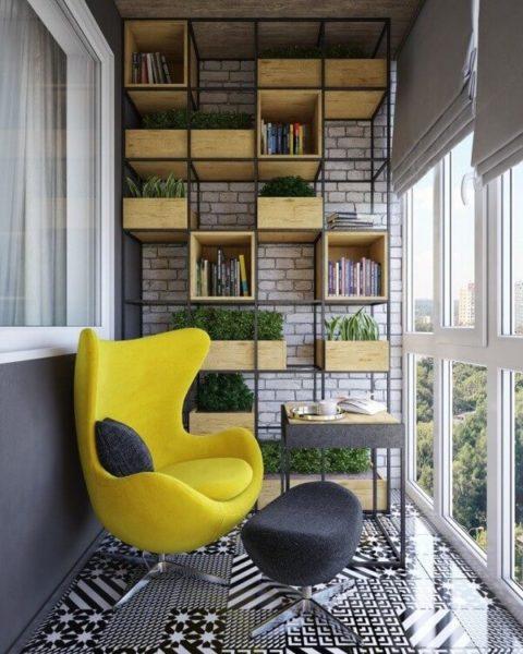 мебель для балкона в стиле лофт