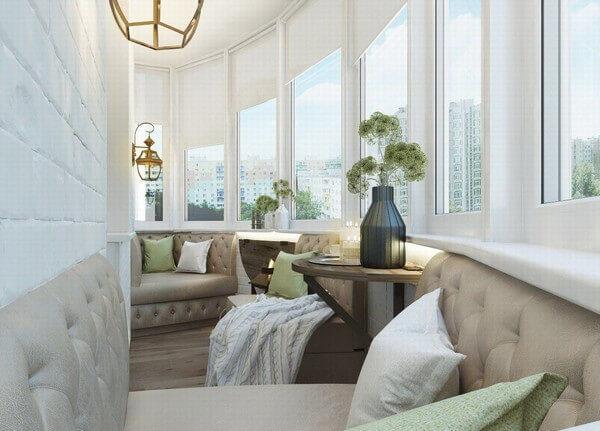 полукруглый балкон в стиле модерн