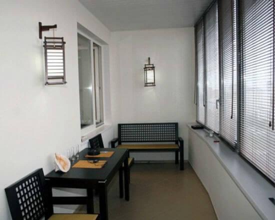 японский стиль в оформлении балкона