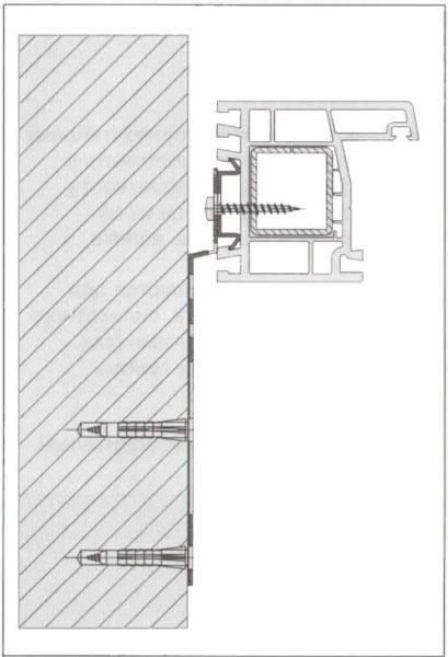 Крепление балконного блока