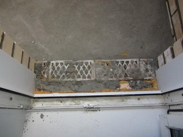 поднять порог балкона