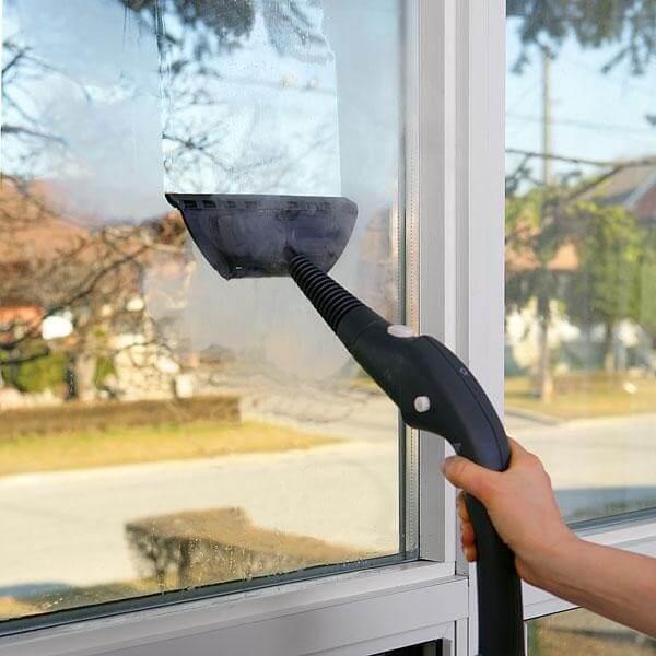 как помыть окна пароочистителем