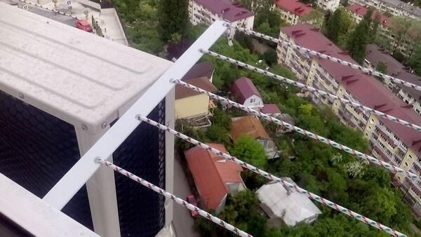 сушилка для белья снаружи балкона
