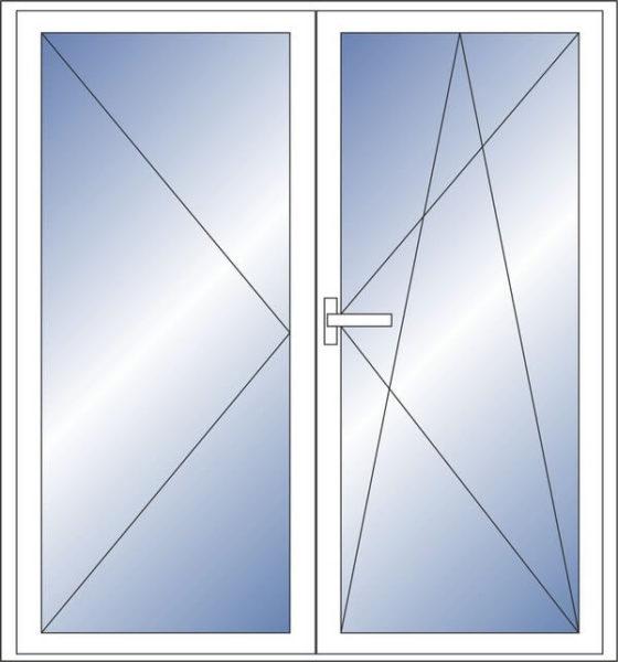 Штульповая дверь для балкона