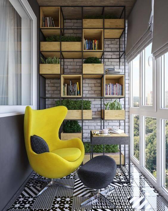 стеллаж на балконе