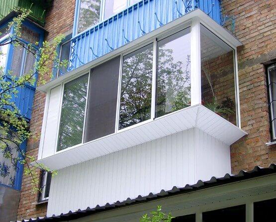 наружная отделка балкона пластиковой вагонкой