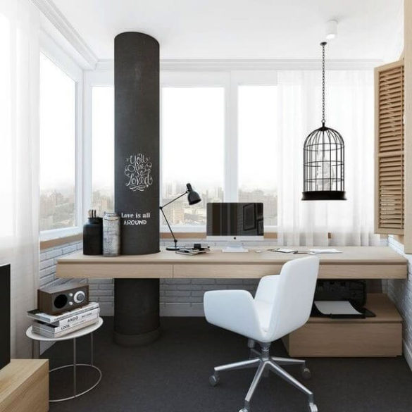 Как превратить балкон в комфортный кабинет: советы по благоустройству и дизайну