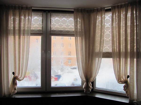 тюль с римскими шторами