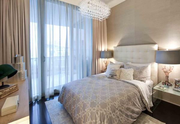 тюль для спальни с балконом