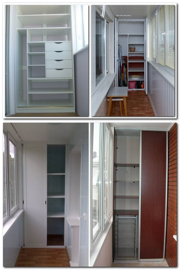 Наполнение балконного шкафа