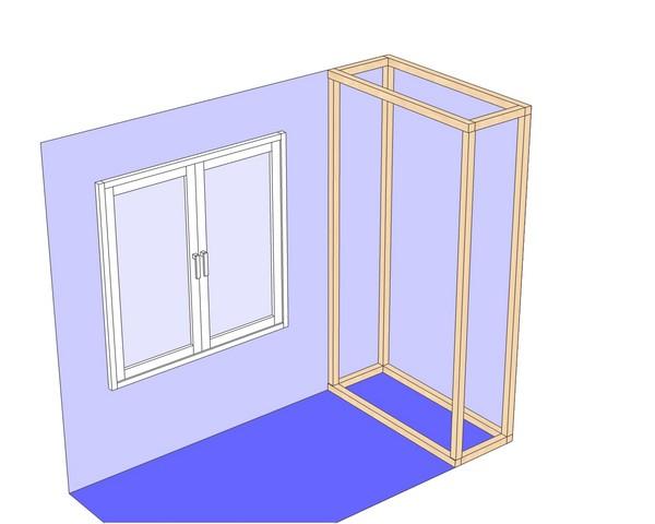 установка шкафа на балконе