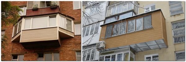 боковые выносы балкона