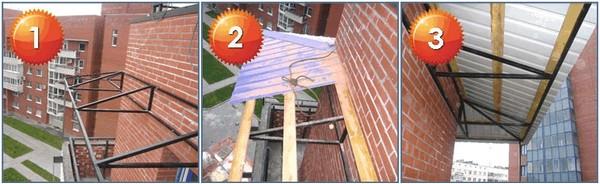 монтаж скатной крыши
