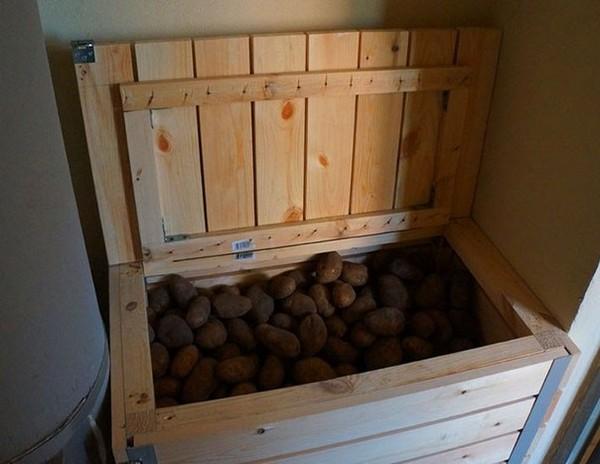 ящик для хранения картофеля на балконе