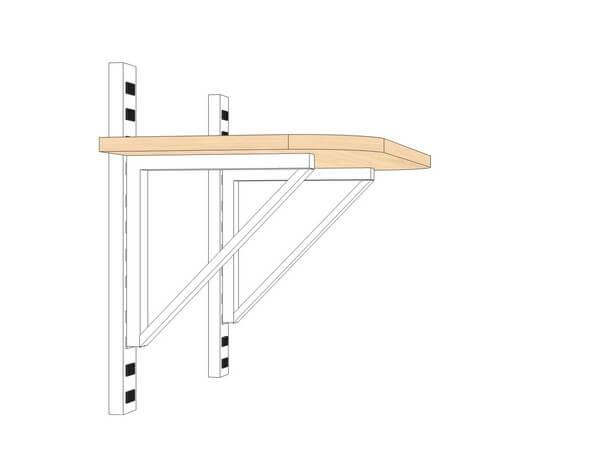 чертеж подвесного столика