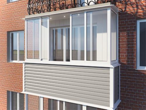 Наружная облицовка балкона